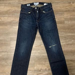 Lucky Brand Vintage Straight Lightly Distressed